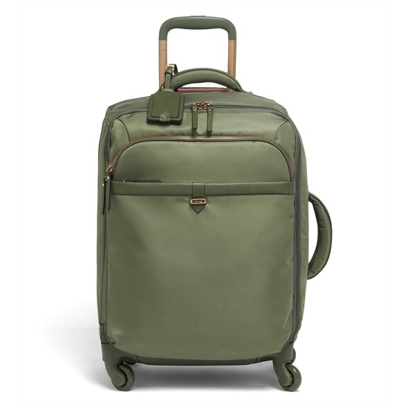 Lipault Plume Avenue Spinner 55/20 in the color Olive Green.