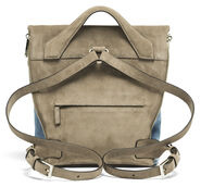 Lipault Rendez-Vous Small Backpack in the color Dark Taupe/Icy Blue.