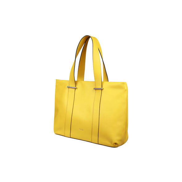 Lipault By The Seine Large Tote Bag in the color Lemon Yellow.