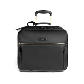 "Lipault Business Avenue 15"" Rolling Tote in the color Jet Black."
