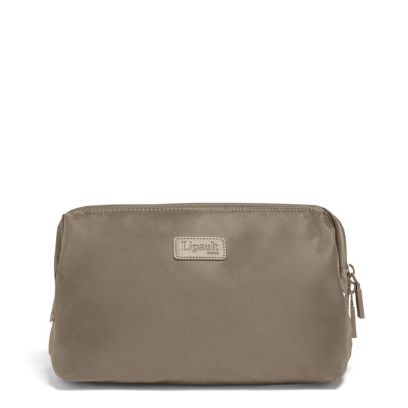 "Lipault Plume Accessories 12"" Toiletry Kit in the color Dark Taupe."