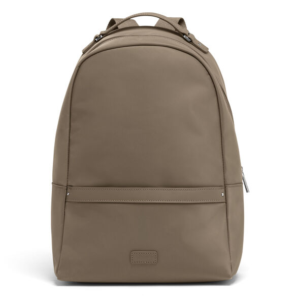 Lipault Lady Plume Medium Backpack in the color Dark Taupe.