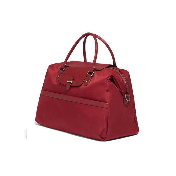 Lipault Plume Avenue Duffel Bag in the color Garnet Red.