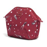 Lipault Izak Zenou Cosmetic Pouch in the color Pose/Garnet Red.