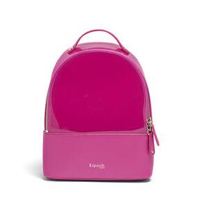 Lipault Pop 'N' Gum Backpack XS in the color Deep Fuchsia.