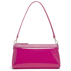 Lipault Pop 'N' Gum Small Clutch Bag in the color Deep Fuchsia.