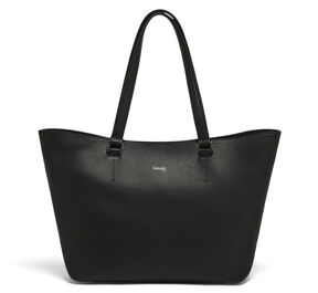 Lipault Invitation Leather Tote Bag in the color Black.