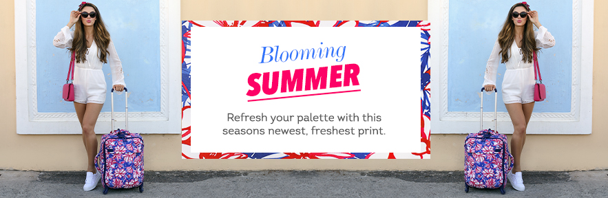 Blooming Summer.  Refresh your palette with this seasons newest, freshest prtin.