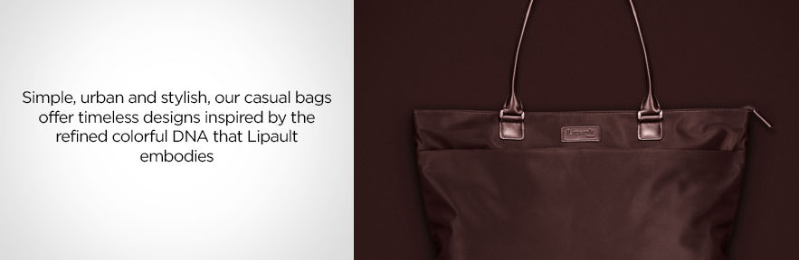 Lipault Casual Bags - Simple, urban and stylish, ourcasual bags offer timeless designs inspired by the refined colorful DNA that Lipault embodies. Shop Now.